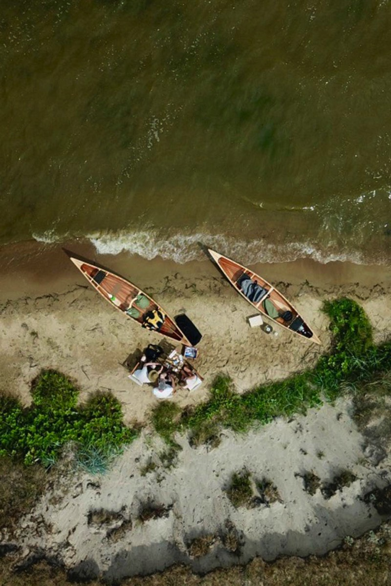 Canoes from above